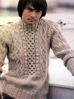 vintage 1970s based on Guernsey fisherman's sweater