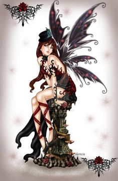 My Drawing Gothic Fairy Elfen Fantasy, Amy Brown Fairies, Dragons, Fairy Drawings, Gothic Fantasy Art, Fairy Tattoo Designs, Fairy Pictures, Love Fairy, Beautiful Fairies