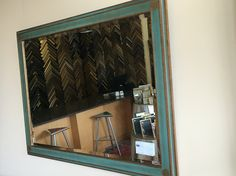 Custom mirror framed by Walter Adams Framing. #mirror#interiordesign #custom #french #handcarved