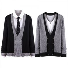 Today's Hot Pick :Two Tone Double Breasted Cardigan http://fashionstylep.com/P00000HH/bong8/out High quality Korean fashion direct from our design studio in South Korea! We offer competitive pricing and guaranteed quality products. If you have any questions about sizing feel free to contact us any time and we can provide detailed measurements.