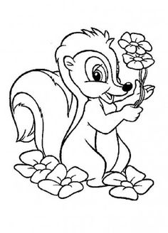 Bambi coloring page 10