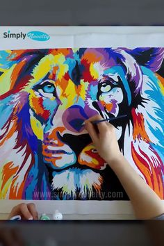 Let Your Inner Artist Shine With These New DIY Paint By Numbers Kits 🎨 Let your inner artist shine! Arte Pop, Tableau Pop Art, Lion Painting, Rock Painting, Lion Art, Lion Wall Art, Diy Canvas Art, Watercolor Art, Art Drawings