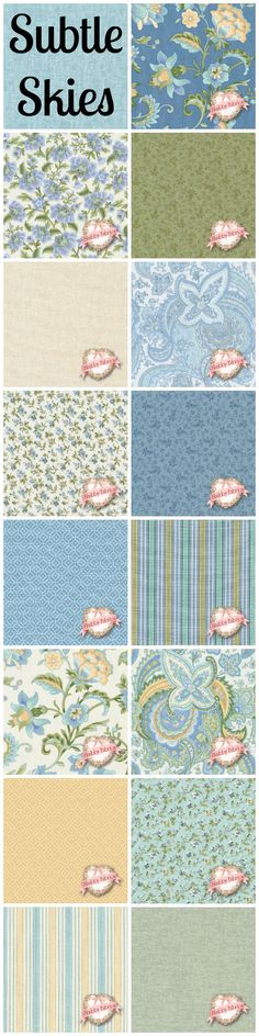 Sold Per Panel Makower Fabric Windy Day Labels Blue Grey 30cm Strips of Fabric