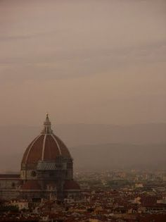 Cupula of Brunelleschi church in Florence Italy.