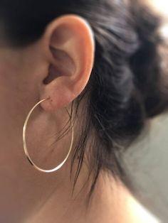 Filled hoops - Gypsy hoops - High quality gold hoops - Simple Hoop Earrings - Small medium large hoops - big gold hoops - pair of hoops Gold Filled hoops - Gypsy hoops - High quality gold hoops - Simple Hoop Earrings - Small medium larg Black Diamond Earrings, Tiny Stud Earrings, Silver Hoop Earrings, Crystal Earrings, Silver Jewelry, Earring Studs, Raw Diamond, Bar Earrings, Antique Earrings
