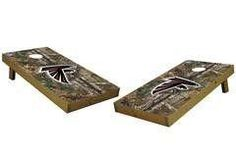 Atlanta Falcons Single Cornhole Board - Realtree Xtra® Camo