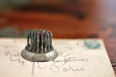 vintage metal flower frog spikes by hilltopcottage on Etsy
