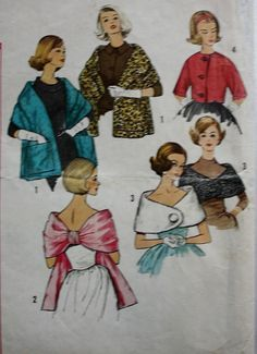 1960s Misses Stoles Capelets and Jacket by BluetreeSewingStudio, $30.00