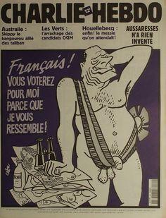Charlie Hebdo - N° 481 - Mercredi 5 Septembre 2001 - Couverture de Cabu