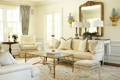 Love the soft warm color on the walls....furniture , pattern and subtle pattern...very refined and elegant