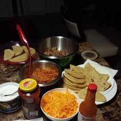 Ground turkey tacos with the family my sister is helping cook.  She's wife material love, spending time with them ....