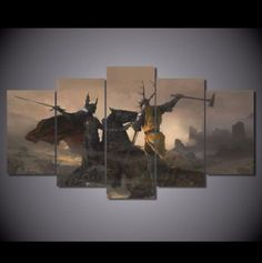 Own this amazing Battle of the Trident Game of Thrones wall canvas today we will ship the canvas for free. This is the perfect centerpiece for your home. It is easy to assemble and hang the panels together which makes this a great gift for your loved ones.  This painting is printed not handpainted and is ready to hang! We have 1 options for this canvas -- Size 1: (20x35cmx2pcs, 20x45cmx2pcs, 20x55cmx1pc) Limited quantities left. www.octotreasures.com