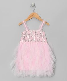 Sparkly-sweet+beadwork+combines+with+cascades+of+poufy,+princess-worthy+tulle+to+make+this+dress+a+sweet+fashion+treat.+Ruffled+straps+add+an+extra+air+of+free-spirited+elegance.