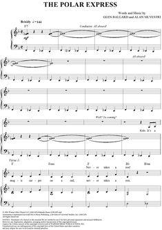 piano chords polar express | The Polar Express Sheet Music | OnlineSheetMusic.com