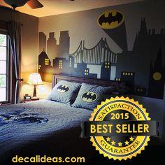 Superhero Wall Decal Gotham City Wall Decal por StunningWalls