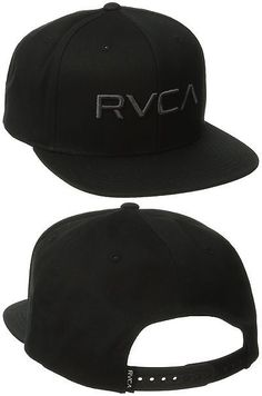 b8dcc445378 Hats 52365  Rvca Men S Twill Snapback Hat Black Charcoal One Size -  BUY IT  NOW ONLY   32.66 on eBay!