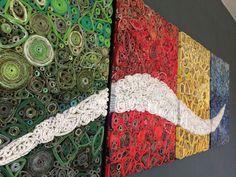 Tableau en papier recyclé