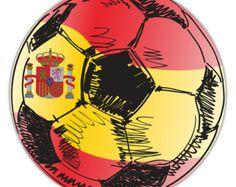 Spain Flag Soccer Ball Sticker