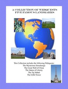 Come travel the world and learn about these varied landmarks. From the mysterious Stonehenge to the beauty of the Taj Mahal, your students will learn the rich history behind some of the world's famous monuments. This 19 page package includes worksheets f Teaching Geography, World Geography, Teaching History, Teaching Resources, Teaching Ideas, Famous Monuments, Famous Landmarks, Study History, World History
