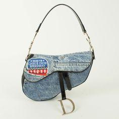Dior Saddle Bag In Blue Jean A
