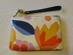 Fossil SL6621991 Printed Wrist Pouch Light Floral Wristlet Multi leather NWT*^ #Fossil #Wristlet