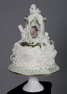 Rococo wedding - Cake by Chocoshack