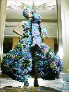 Floral couture met de hortensia Mooiwatbloemendoen.nl