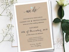 We Do Wedding Invitations Invites RSVP Cards by SAEdesignstudio