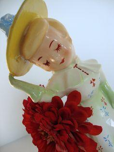 Vintage Japan Porcelain Figurine Vase or Planter