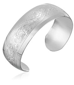 Sterling Silver Embossed Cuff Bracelet >>> Learn more @ http://www.amazon.com/gp/product/B003H9LH4Y/?tag=splendidjewelry07-20&pmn=210716065152