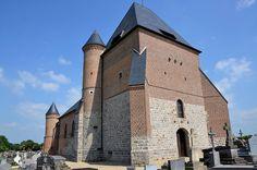 Eglise fortifiée Saint-Sulpice et Saint-Médard de Beaurain .Flavigny-le-Grand-et-Beaurain (Aisne) - Picardie