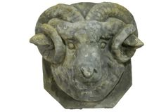 Estate Stone Ram Head Mount $32.00 @ http://www.antiquefarmhouse.com/current-sale-events/luxe2.html