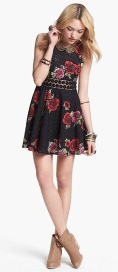 Free People Floral Floral Print Dress, only because catherine wore this is the last episode of TVD :)