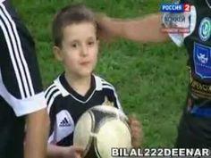 A Boy Score A Goal In Friendly Match