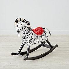 Land of Nod Zebra Rocker - $149.00