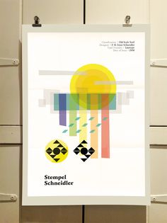 Stempel Schneidler Poster by Theory Unit Graphic Design