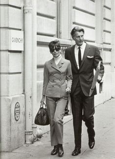 A Look Back At The Life of Hubert de Givenchy 1927-2018 (Audrey and Hubert outside Givenchy, Paris, late 1960s)