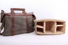 Large DSLR Camera Bag Canvas Messenger Bag Briefcase Bag Crossbody Bag Shoulder Bag Camera Bag in Gray 1801 on Etsy, $59.99