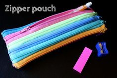 zipper pouch made from zippers!