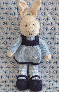 Cute hand knitted bunny rabbit by SasaBoo on Etsy, $47.00