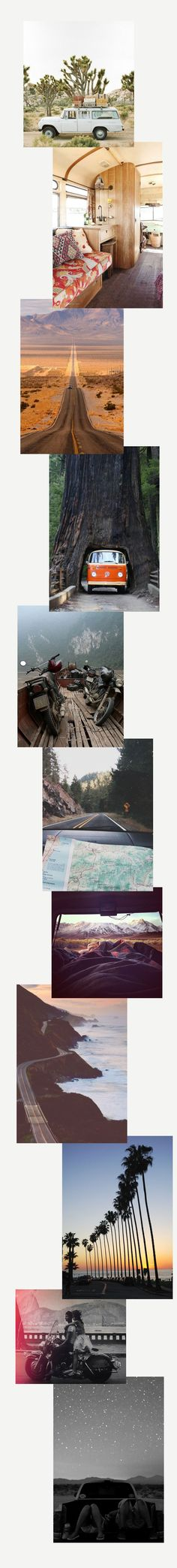 Travel Daydreaming: Road Trip by The Wanderlove Collective Travel Inspiration, Road Trip, Collage, Collages, Road Trips, Collage Art, Colleges