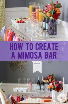 Brunch party drinks mimosa bar 50 Ideas for 2019 Party Drinks, Cocktail Drinks, Fun Drinks, Yummy Drinks, Cocktails, Beverages, Vodka Drinks, Mimosa Bar, Mimosa Brunch