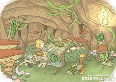 The Legend of Zelda (Breath of the Wild) - Link au village korogu The Legend Of Zelda, Legend Of Zelda Breath, Zelda Drawing, Zelda Video Games, Princesa Zelda, Brave, Fairy Tail, Link Art, Hyrule Warriors