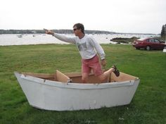 Cardboard boat plans | MICS Little Mermaid Ideas | Pinterest | Boat