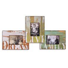 Barnwood Distressed Wood 5' x 7' Word Frames - Bed Bath & Beyond