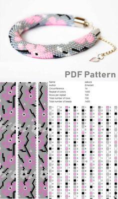 Crochet Bracelet Pattern, Crochet Beaded Bracelets, Beaded Necklace Patterns, Bead Crochet Patterns, Seed Bead Patterns, Bead Crochet Rope, Weaving Patterns, Beaded Crochet, Art Patterns