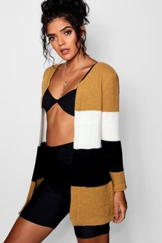 Click here to find out about the Colour Block Stripe Cardigan from Boohoo, part of our latest Sweaters & Cardigans collection ready to shop online today!