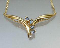 Fine Estate Jewelry Sapphire Diamond 14K by LoriBilodeauAntiques