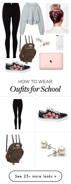 """Back To School"" by outfitt on Polyvore featuring Lipsy, Vans and Louis Vuitton"