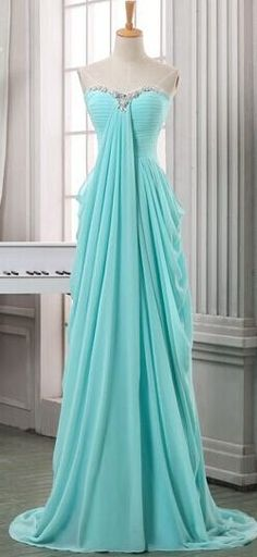 Chiffon High Low Pretty Long Strapless Teal Beading Back Zipper Long Prom Dresses http://21weddingdresses.storenvy.com/collections/919470-prom-dresses/products/15362433-2016-top-selling-pretty-long-strapless-teal-beading-back-zipper-long-prom-dr